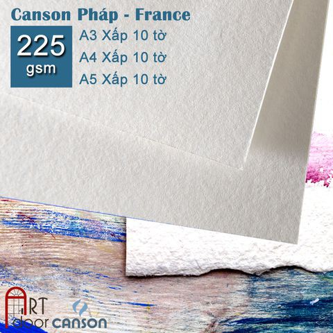 [ARTDOOR] Giấy Vẽ Canson Pháp 225gsm (smooth)