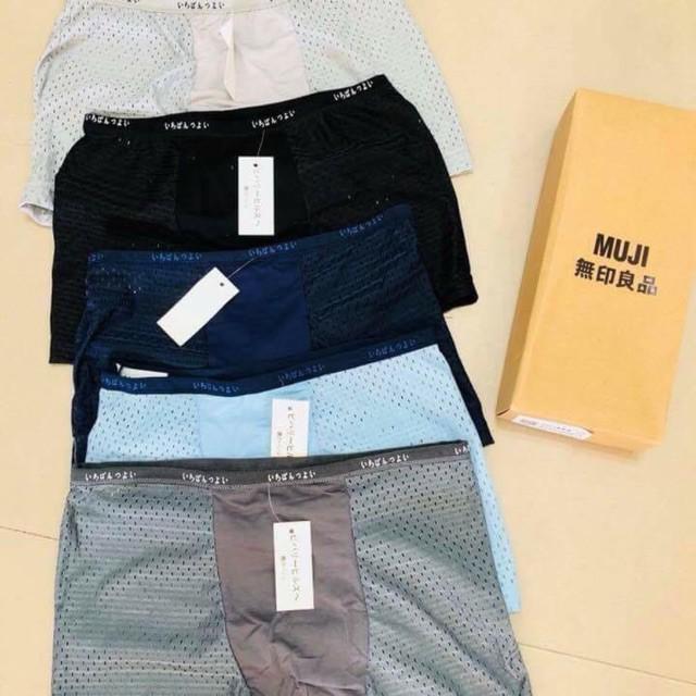 Combo 5 quần sịp Muji thông hơi(full hộp)