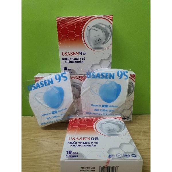 Khẩu trang kháng khuẩn N95 USASEN 95 ( Hộp 10 cái)