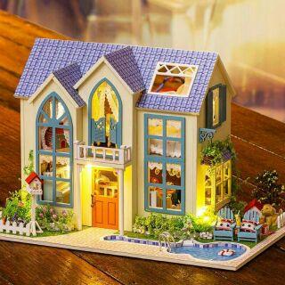 Kèm mica – Mô hình nhà gỗ búp bê dollhouse DIY – 13838 Romantic Garden