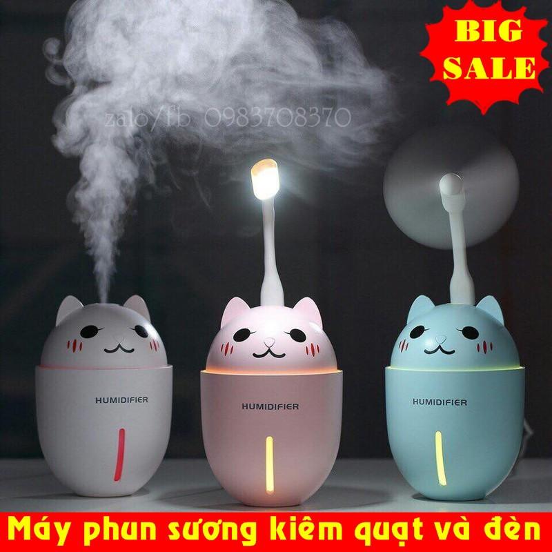 Máy phun sương tạo ẩm tiện ích kiêm đèn ngủ và quạt mát (3 chức năng trong 1) M125