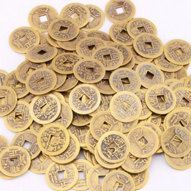 Đồng tiền xu cổ. vật phẩm Phong Thủy hút tài lộc