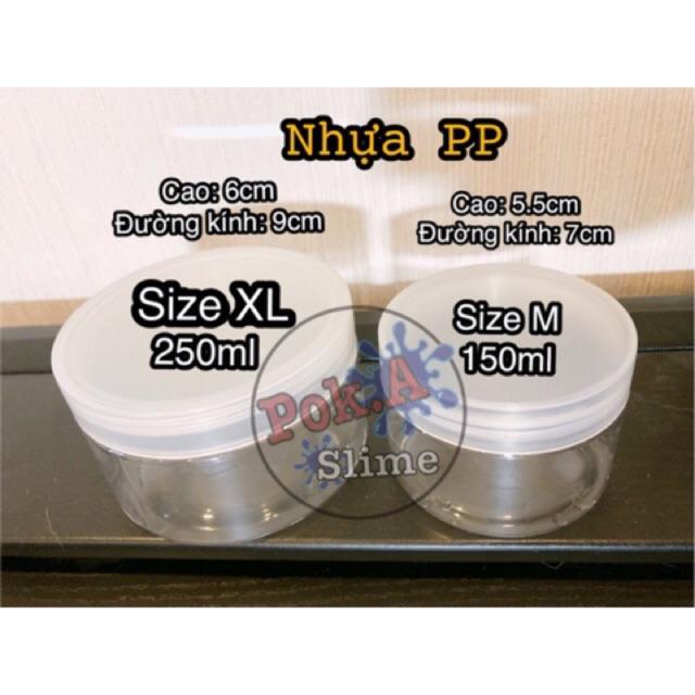 Hũ nhựa PP nắp vặn - Nguyên liệu slime