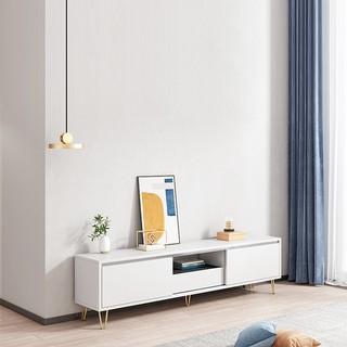 Kệ tivi gỗ chân sắt cửa trượt kiểu dáng đơn giản hiện đại trang trí nội thất phòng khách phòng ngủ căn hộ khách sạn