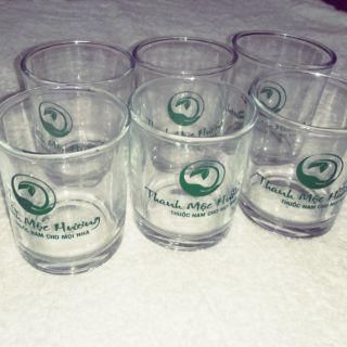 Bộ 6 ly, cốc thủy tinh có in logo