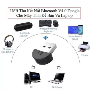 USB Thu Tín Hiệu Kết Nối Bluetooth V4.0 Dongle Cho Máy Tính Để Bàn Và Laptop
