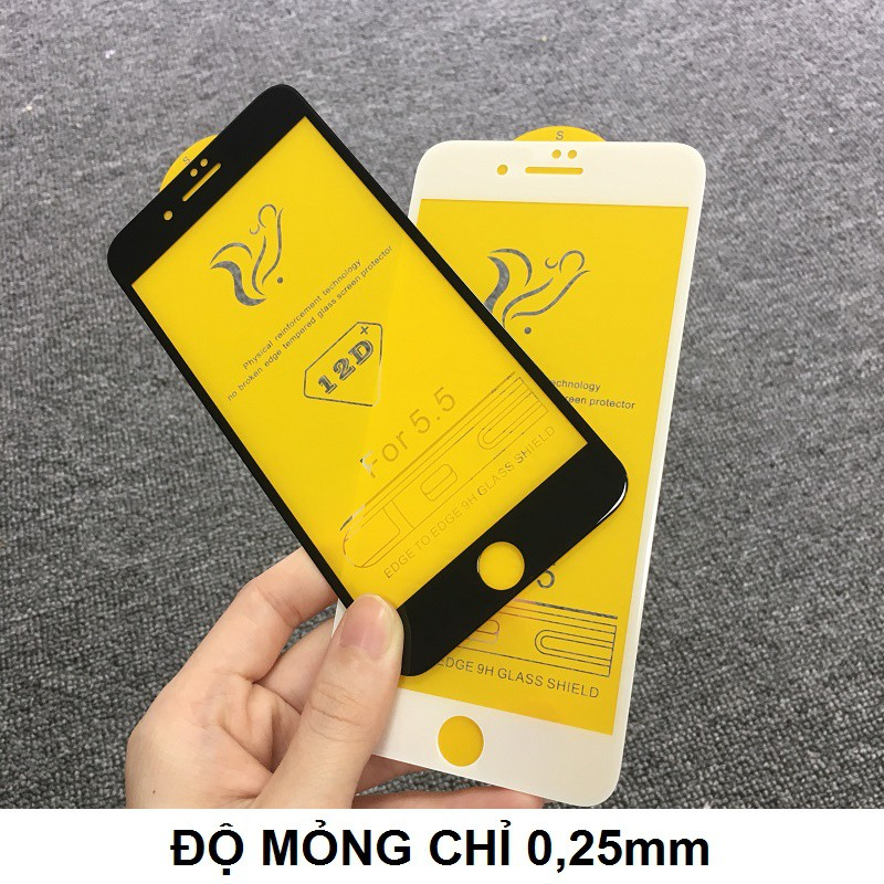 Kính Cường Lực Iphone Full Màn 12D