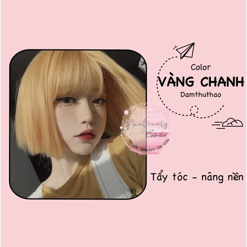 [HCM]( Tặng oxy dưỡng ) Thuốc nhuộm tóc màu vàng chanh cao cấp