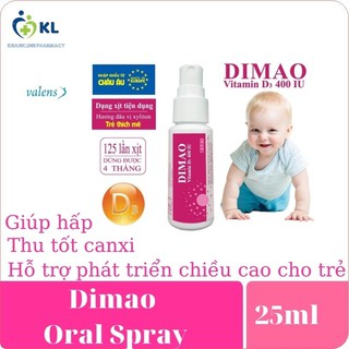 Dimao vitamin D3 dạng xịt