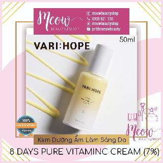 VARI HOPE - Kem dưỡng Trắng Da Varihope 8 Days Pure Vitamin C Cream (50ml) thumbnail