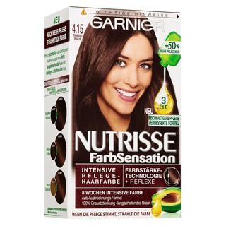 Thuốc Nhuộm Tóc Garnier Nutrisse 4.15 Màu Nâu