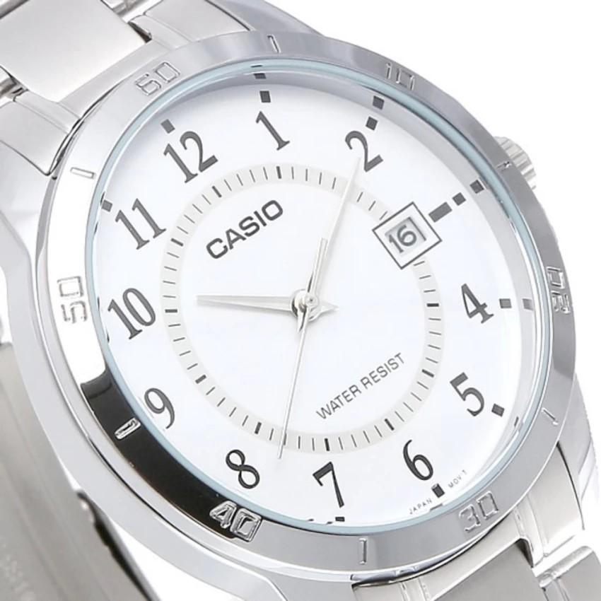 Đồng hồ nam dây kim loại Casio chính hãng Anh Khuê MTP-V004D-7BUDF
