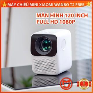 Yêu Thích✅[CHÍNH HÃNG] Máy chiếu mini Xiaomi Wanbo T2 Free . Full HD 1080p .120 inch, Led tuổi thọ 20000h. Tích hợp 2 loa 3 W