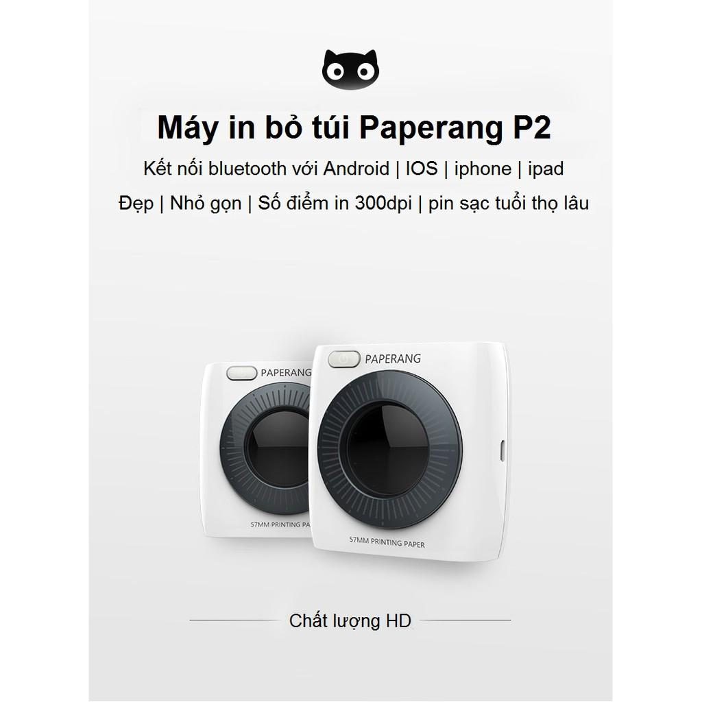 Máy in nhiệt bỏ túi Paperang P2 bản nâng cấp của Paperang P1 | Kết nối Bluetooth với Android | IOS I - 3021452 , 1337768899 , 322_1337768899 , 1450000 , May-in-nhiet-bo-tui-Paperang-P2-ban-nang-cap-cua-Paperang-P1-Ket-noi-Bluetooth-voi-Android-IOS-I-322_1337768899 , shopee.vn , Máy in nhiệt bỏ túi Paperang P2 bản nâng cấp của Paperang P1 | Kết nối Blu