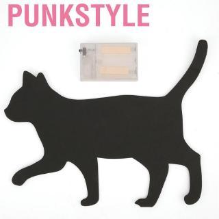 Punkstyle Halloween Creative Cat Shadow Puppet Light Night Lamp Children Toy Bedroom Decoration