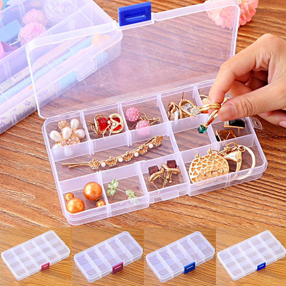 Transparent Mini Earrings Durable Home Jewelry Accessories Multifunctional Plastic Storage Box