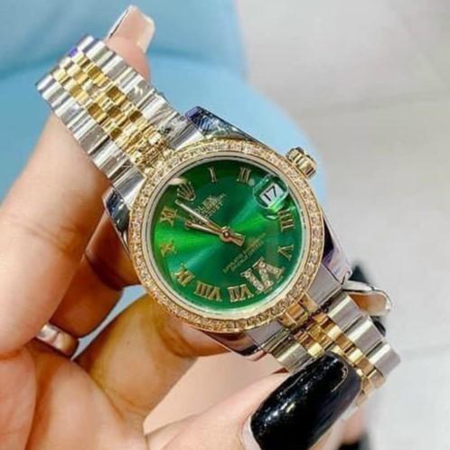 Đồng hồ nữ Ro - mặt tròn viền đá sang trọng - bảo hành 12th autowatch