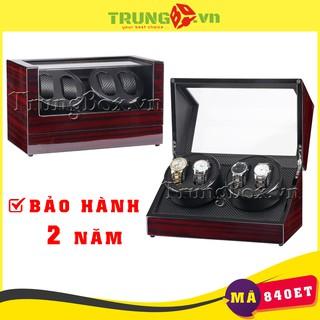 [BH 2 NĂM] Hộp Lắc Đồng Hồ Cơ 4 Xoay Vỏ Gỗ Sơn Mài - Mã 840ET thumbnail