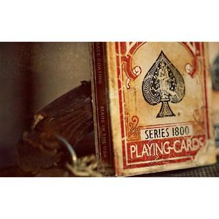 Bộ bài tây Vintage 1800 playing cards Red [ Hàng Mỹ ]