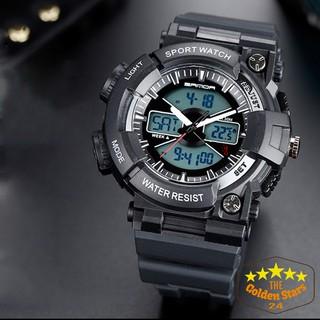 Đồng hồ nam kim điện tử Sanda đa chức năng nhiệt kế, đèn nền, báo thức, bấm giờ, GMT, hiển thị lịch thứ ngày, giờ 12 24 thumbnail