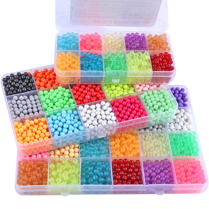 Water mist magic magic beads set manual diy magic beads water fog magic beads water pearl water making puzzle children's