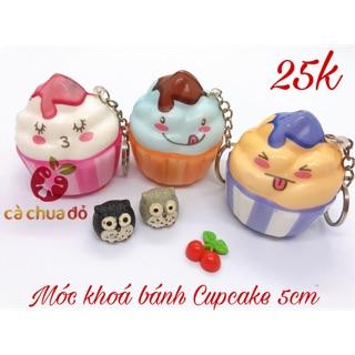 Squishy móc khoá bánh Cupcake 5cm