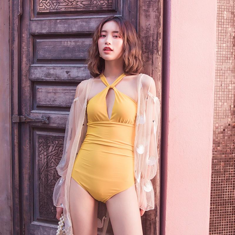 Bộ Đồ Tập Bơi Đi Tắm Biển Nữ Bikini 1 Mảnh (Set 2 đồ Áo Liền Quần) HE8090 II VIỆ