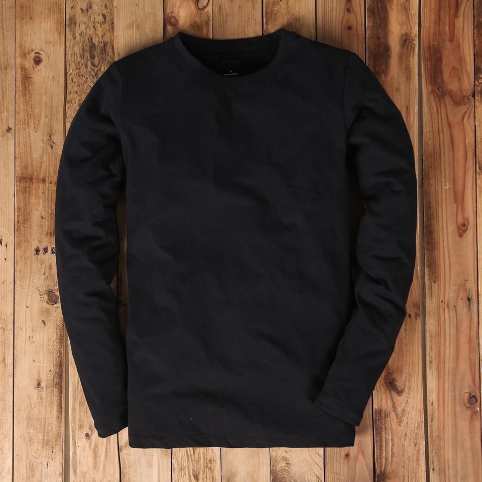 Áo thun dài tay cổ tròn có size lớn đến 95kg chất thun cotton đẹp dáng ôm nhẹ phù hợp cho nam