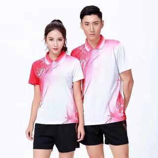 Áo cầu lông YONEX Nam+Nữ Màu Đỏ Trắng Mới nhất năm 2020 thumbnail