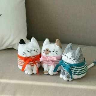 Mèo tong tong- thú bông handmade