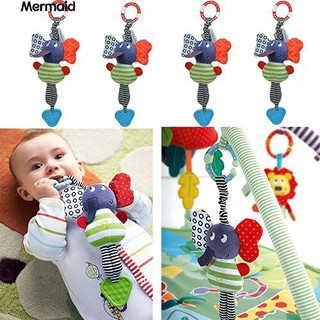 ‼♥ Kids Baby Infant Elephant Handbell Rattle Bed Bell Stroller Toy Teether Gift