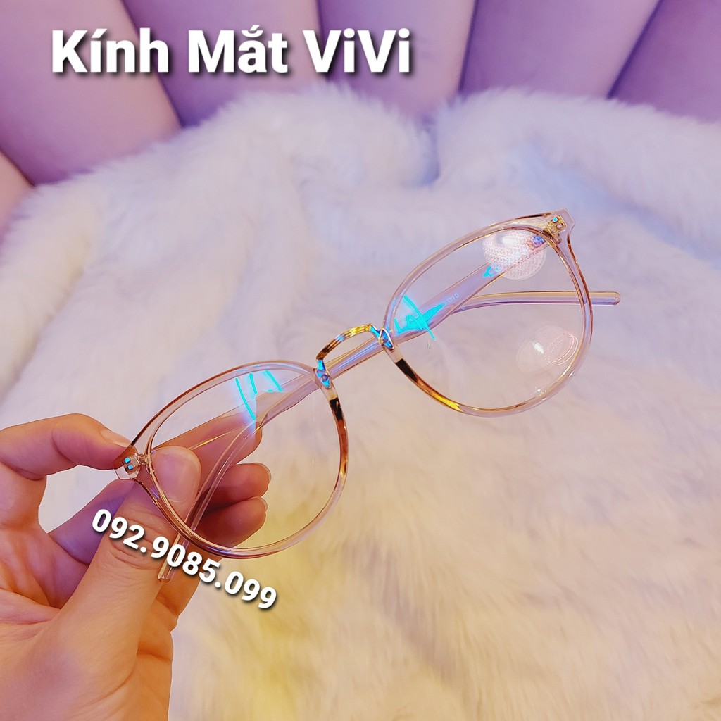 Gọng kính cận tròn V209 gọng dẻo hàn quốc - Kính Mắt ViVi+ Nhận cắt cận viễn loạn