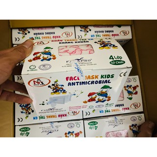 [Trẻ em] Khẩu Trang Y Tế Trẻ Em FAMAPRO Hộp 50 Cái