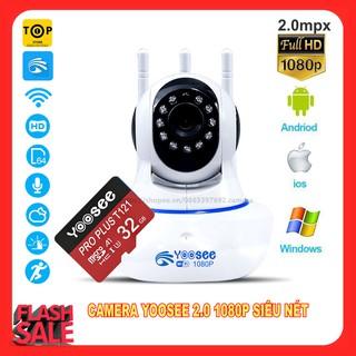 Combo Camera IP YooSee Tiếng Việt Và Thẻ Nhớ 32Gb Yoosee Chuyên Dụng