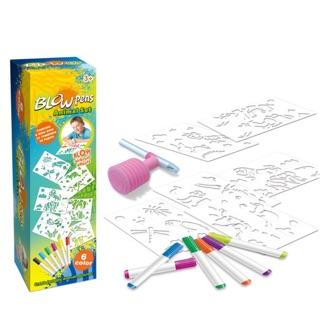 Hộp bút tô màu thổi cho bé hình động vật