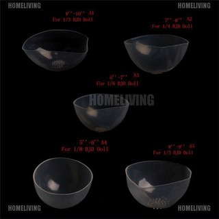 【Homeliving】Doll Clear Silicone Wig Cap Protection Cover for 1/6 1/4 1/3 BJD Doll SD Doll