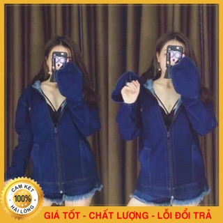 Áo Chống Nắng Bò Nữ – Chất Liệu Jean Cao Cấp – Chống Tia UV – Làm Mát- Dày Dặn – Co Giãn Tốt – Chống Nắng Ưu Việt