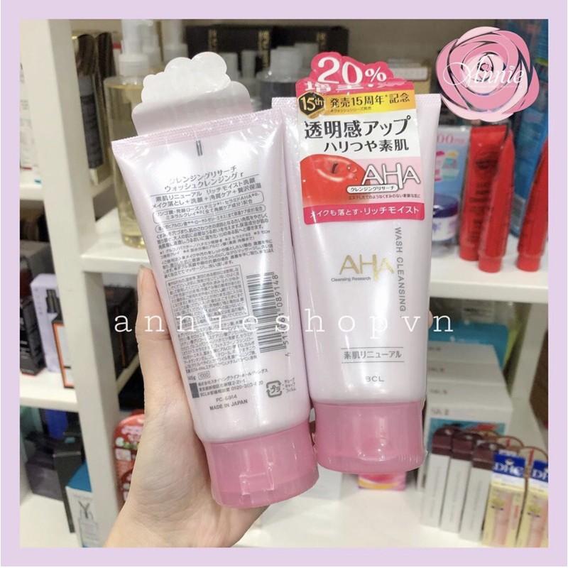 Sữa rửa mặt AHA Wash Cleansing Nhật bản 145g
