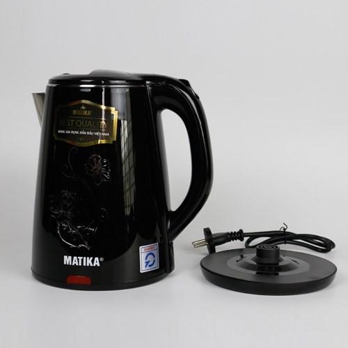 [hàng chính hãng]Bình đun siêu tốc 2 lit Matika MTK20 có 2 màu đen và xanh(chọn phân loại), Bảo hành 12 tháng