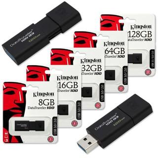 [Tốc Độ 3.0] USB Kingston 128GB 64GB 32GB Vỏ Tĩnh Điện - Siêu Bền - Màu Đen Lịch Lãm
