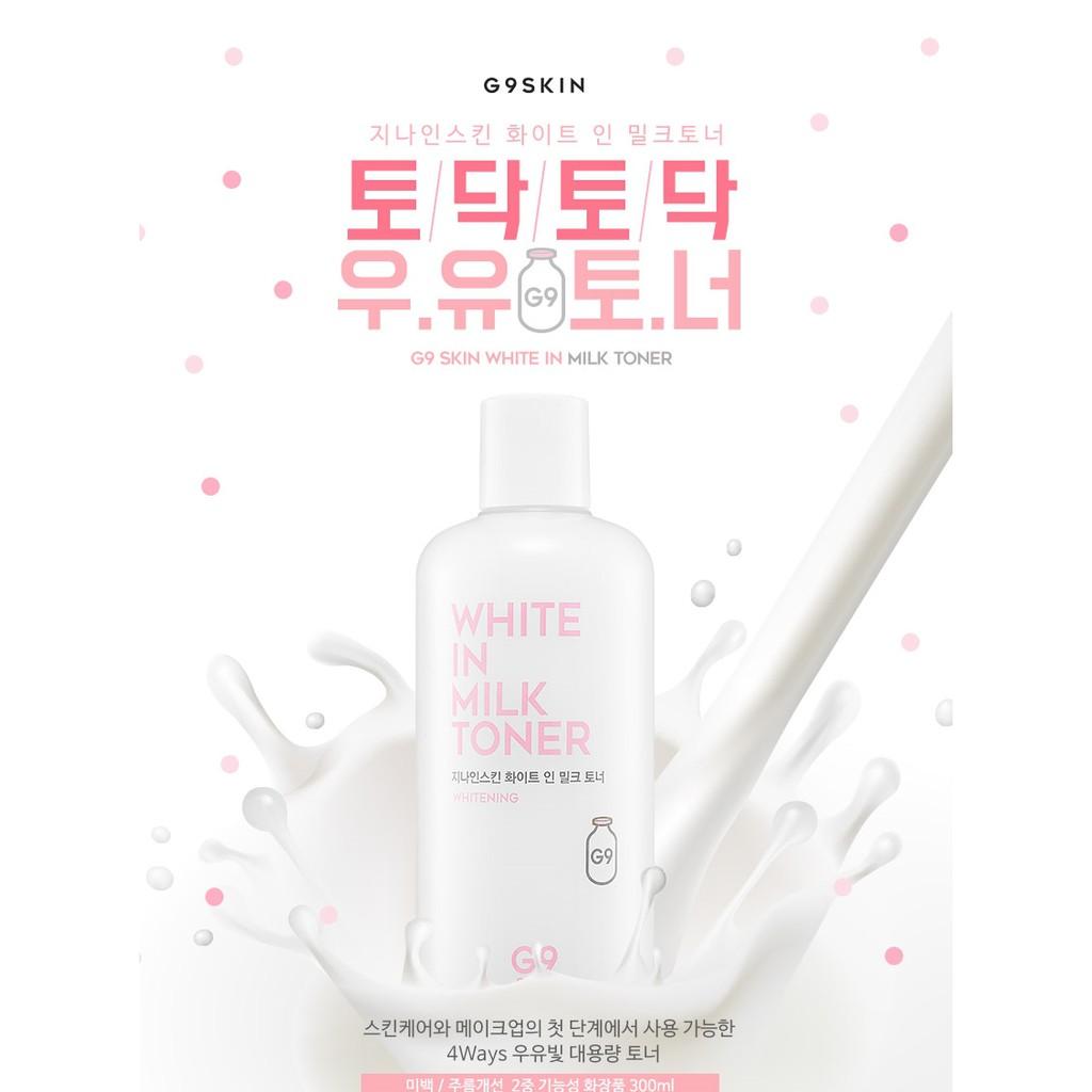 [Chiết] Nước hoa hồng G9 Skin White In Milk Toner - 2592085 , 386746780 , 322_386746780 , 40000 , Chiet-Nuoc-hoa-hong-G9-Skin-White-In-Milk-Toner-322_386746780 , shopee.vn , [Chiết] Nước hoa hồng G9 Skin White In Milk Toner