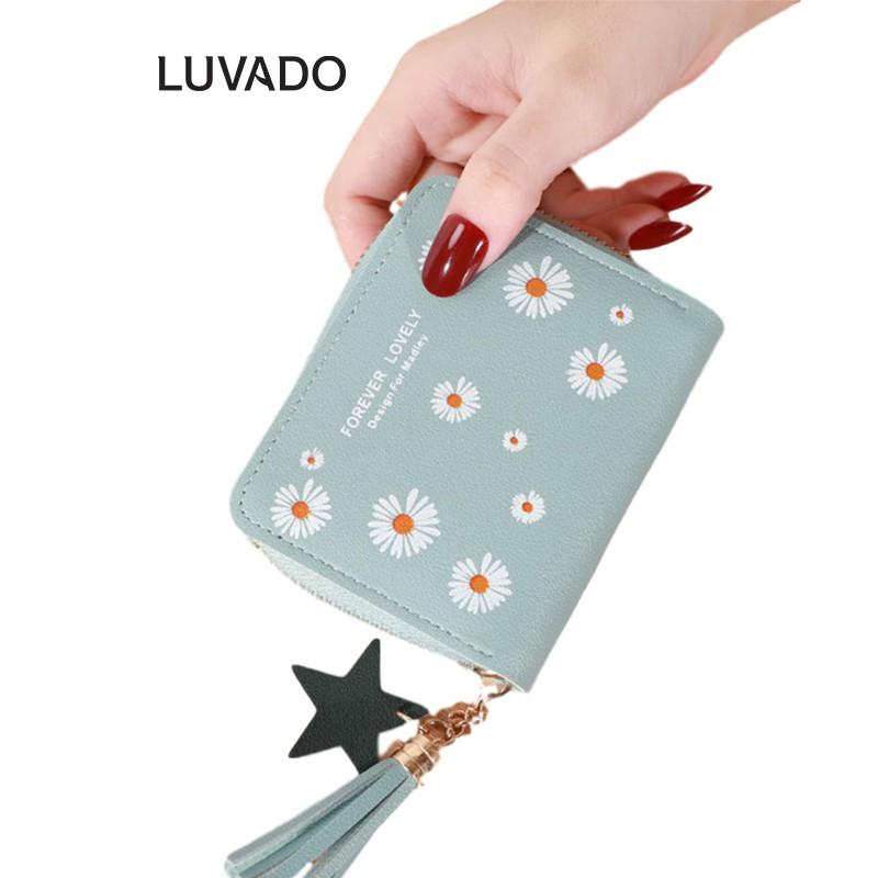 Ví nữ mini cao cấp cầm tay MADLEY đẹp nhỏ gọn bỏ túi đựng tiền LUVADO VD416