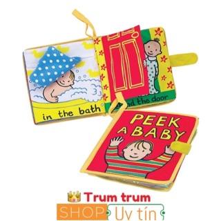 sách vải : peek a baby