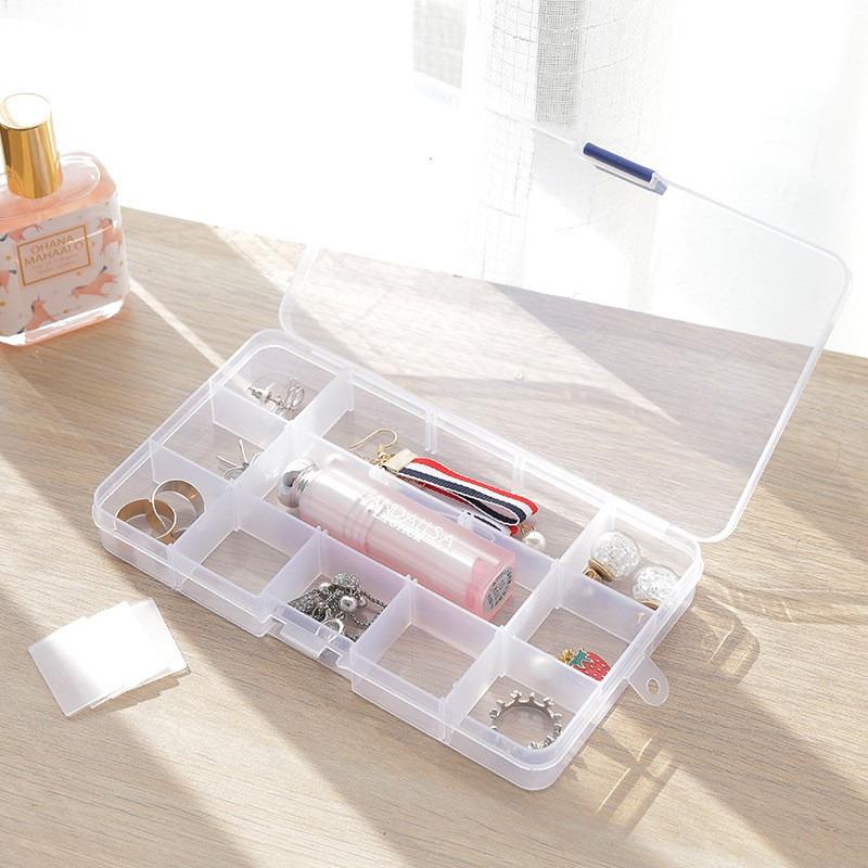 Hộp Nhựa Trong Suốt Đựng Trang Sức Nhỏ Gọn Tiện Dụng