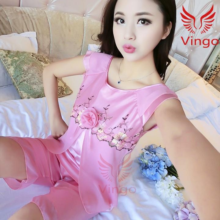 Bộ đồ ngủ, đồ ngủ nữ, đồ mặc nhà lụa cao cấp thương hiệu Vingo Việt Nam - 3286660 , 1258554654 , 322_1258554654 , 295000 , Bo-do-ngu-do-ngu-nu-do-mac-nha-lua-cao-cap-thuong-hieu-Vingo-Viet-Nam-322_1258554654 , shopee.vn , Bộ đồ ngủ, đồ ngủ nữ, đồ mặc nhà lụa cao cấp thương hiệu Vingo Việt Nam