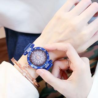 Đồng hồ thời trang nữ Candycat dây lưới nam châm mặt hoa siêu đẹp G5867