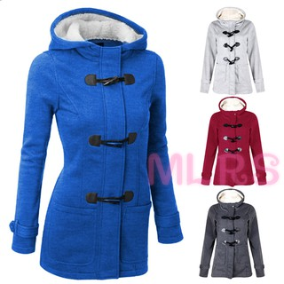 MS Women Outwear Winter Warm Hooded Coat Windproof Long Sleeve Thicken Parka &VN