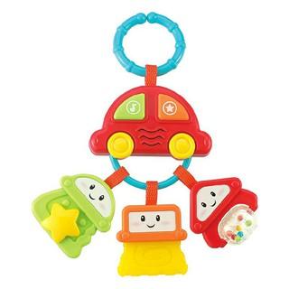 Xúc xắc gặm nướu hình ô tô có đèn nhạc WINFUN 0628 - treo xe đẩy, nôi cũi của bé - đồ chơi cho bé từ 0 tới 12 tháng thumbnail
