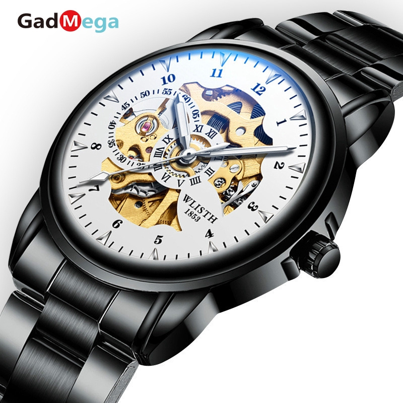 GadMega Machinery Men's Watches Male Students Watches, Nightlight Machinery Watches
