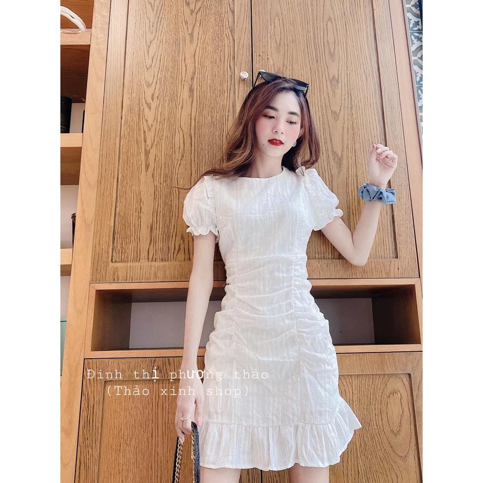 Váy Rúm Đuôi Cá Trắng HOAITHU345